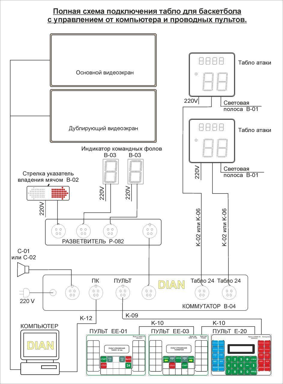 Кра-4 схема подключение